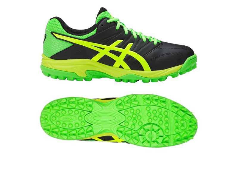 Asics Mens Gel Lethal MP7 Hockey Shoes - BLACK/GREEN GECKO/SAFETY YELLOW-0