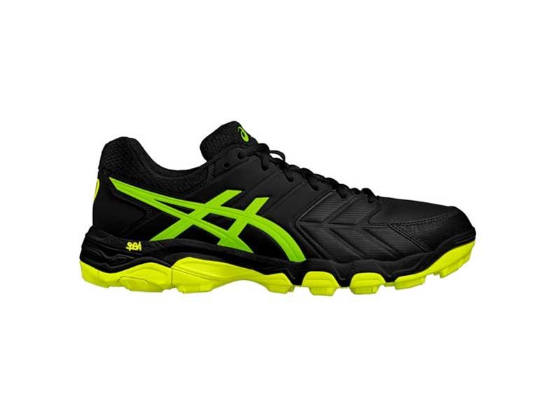 4b762af7e8 Asics Mens Gel Blackheath 6 – Black/Gecko Green – The Online Sports Shop