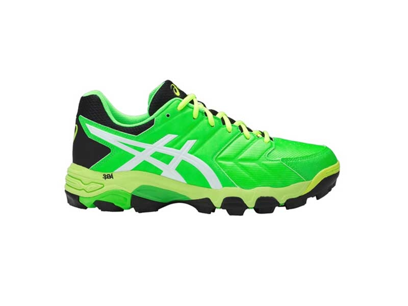 Asics Mens Gel Blackheath 6 - Black/Gecko Green-2289