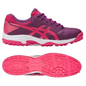 Asics Ladies Gel Lethal MP7 Hockey Shoes - PRUNE/ROUGE RED/WHITE-0
