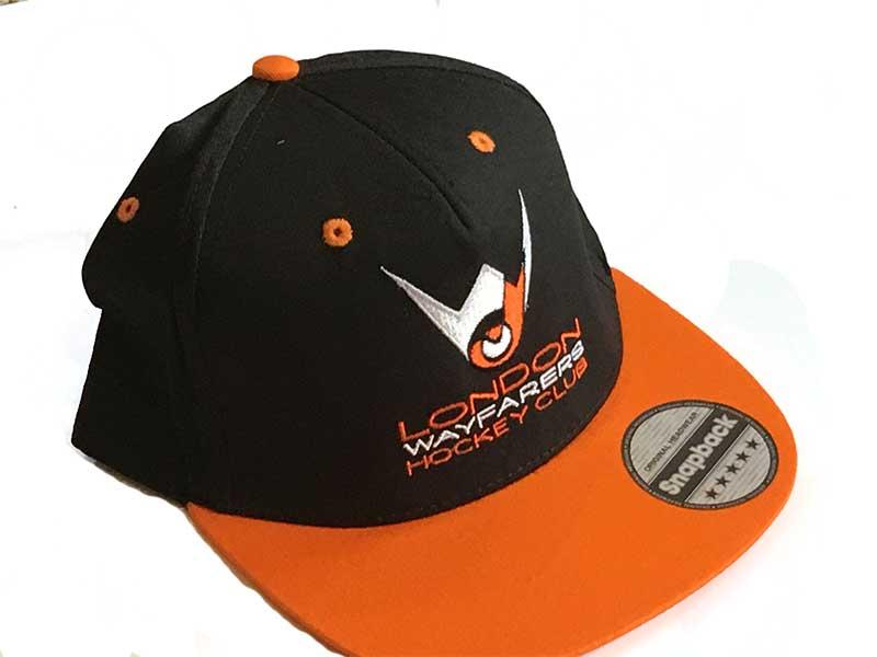 dd919b715db0f London Wayfarers Black   Orange Snapback Hats