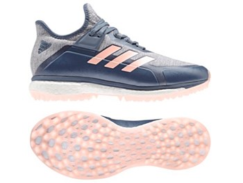 Adidas Fabela X Womens Hockey Shoes - Grey/ Pink